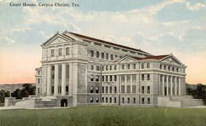 1914 Nueces County Courthouse postcard, circa 1914-1915.