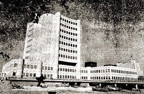 The 'new' Nueces County Courthouse was still undergoing final construction in this 1976 photo before it opened the following year.