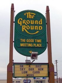 Ground Round sign