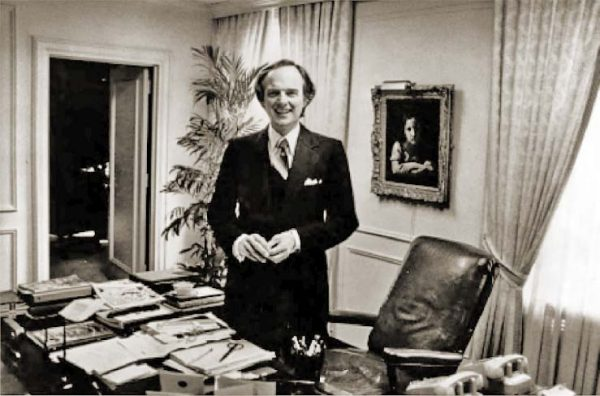 Howard B. Johnson in Rockefeller Center office, NYC