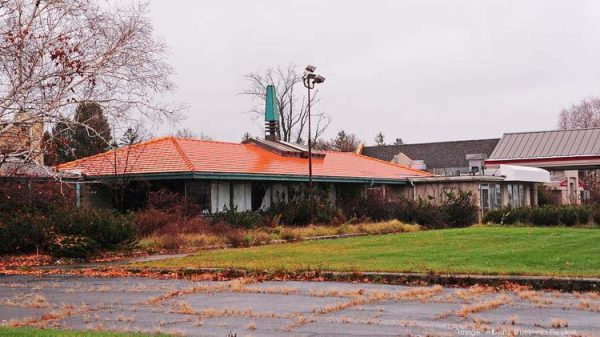 Also not a survivor: This abandoned Howard Johnson's in Albany, NY