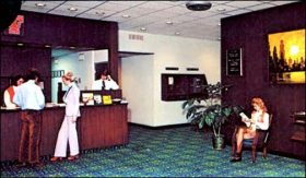 Lobby of Knoxville, TN Howard Johnson's Hotel 1970s