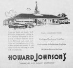"A 1962 newspaper ad for Howard Johnson's, ""Landmark for Hungry Americans."""