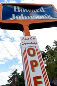 The Last Howard Johnson's restaurant standing, in Lake George, NY