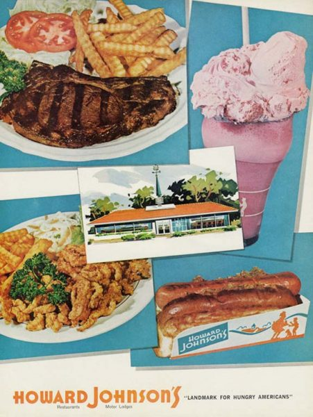 "Howard Johnson's, ""Landmark for Hungry Americans"" ad"