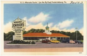 An early Howard Johnson's restaurant