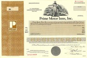 Prime Motor Inns convertible bond 1988