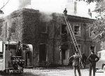 Tyneham rectory on fire